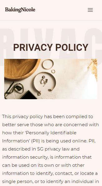 E-Commerce Privacy Policy
